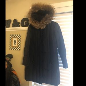 Dana Buchman real fur puffer Large
